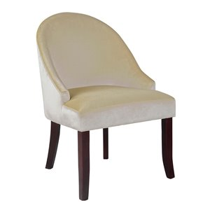 CorLiving Antonio Soft Cream Velvet Accent Chair