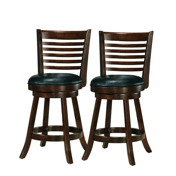 CorLiving Black Swivel Counter Stool (Set of 2)