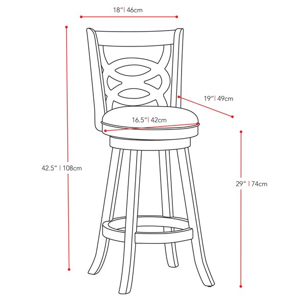 CorLiving Woodgrove Cream Leatherette Seat Swivel Bar Stool (Set of 2)