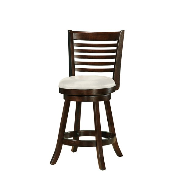 CorLiving Woodgrove Cream Leatherette Counter Stool (Set of 2)