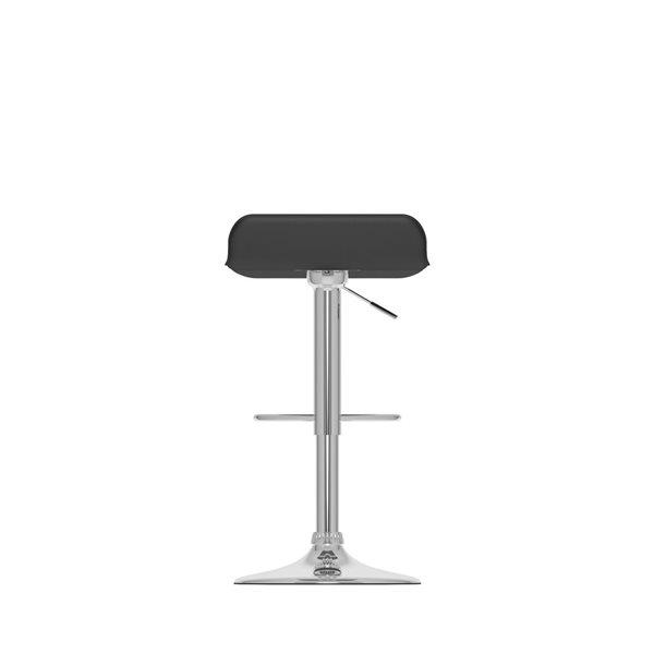 CorLiving Black Leatherette Adjustable Bar Stool (Set of 2)