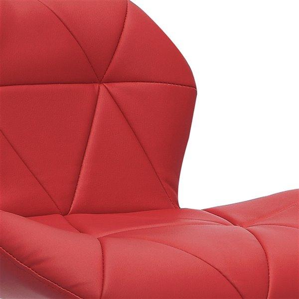 Tabourets ajustables en cuir lié CorLiving, rouge, 2 mcx