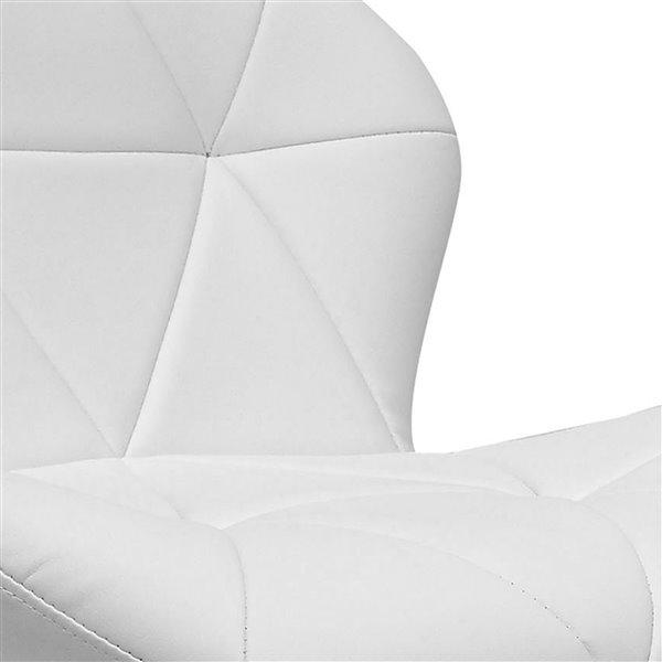 Tabourets ajustables en cuir lié CorLiving, blanc, 2 mcx