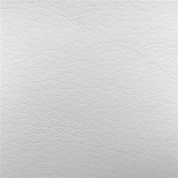 CorLiving White Square Tufted Bonded Leather Adjustable Bar Stool (Set of 2)