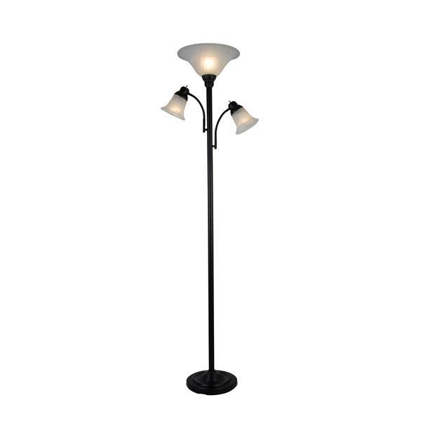 """Lampe sur pied à 3 lumières Rily, métal, 70.5"""""""