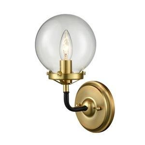 P.W. Design Pluto Clear Glass Shade 1 Light Sconce