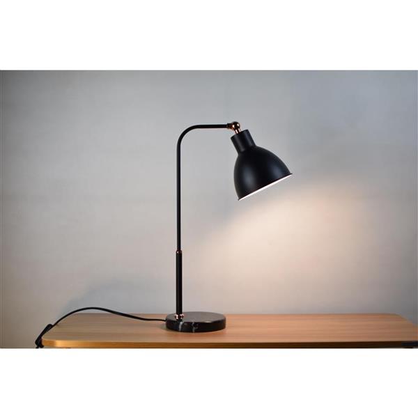 """Lampe de table Dawn, abat-jour métal, 20"""""""