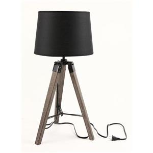 P.W. Design Tanya 25.6-in Black Fabric Shade Tripod Table Lamp