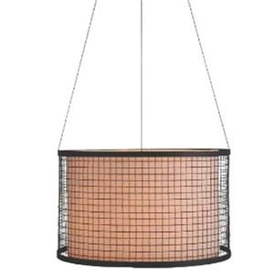 P.W. Design Alina 21-In x 60-In Bronze Drum Lampshade Pendant Light