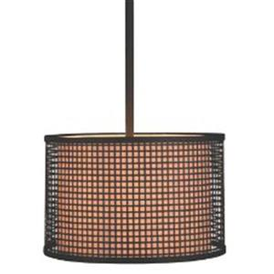 P.W. Design Cabo 21-in Bronze Drum Lampshade Pendant Light