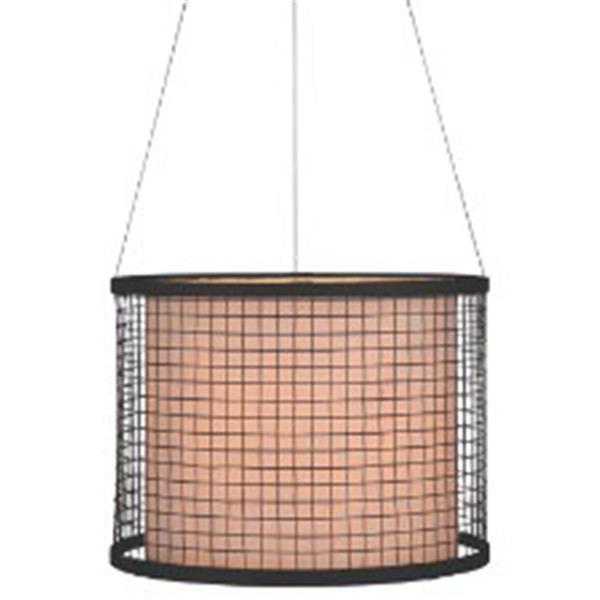 P.W. Design Cabo 16-in Bronze Drum Lampshade Pendant Light