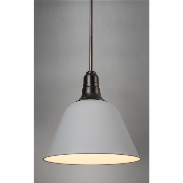 Luminaire suspendu à 1 lumière Céline, métal, blanc