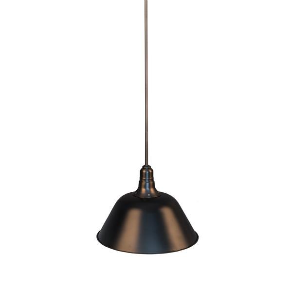 P.W. Design Celine 14-in Black Metal 1-Light Pendant