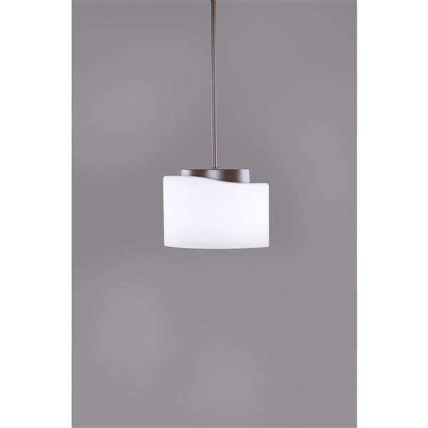 P.W. Design Pablo White 1-Light Pendant Light