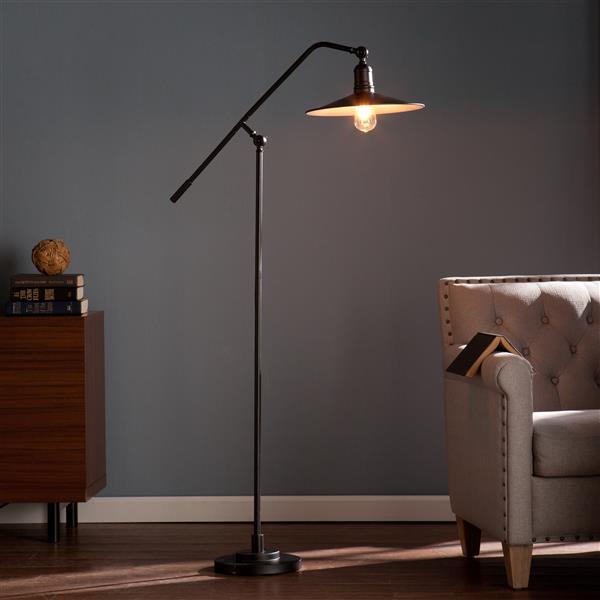 P.W. Design Harpo 51-in Bronze Retro Style Floor Lamp