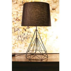 P.W. Design Saturn 25-in Black Table Lamp - Metal Base