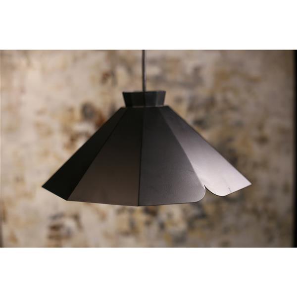 P.W. Design Pheobe Black 1-Light Pendant Light