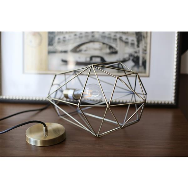P.W. Design Saturn 10-In Antique Brass Metal 1-Light Pendant