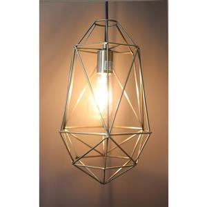 P.W Design Saturn 10-In Antique Brass Metal 1-Light Pendant