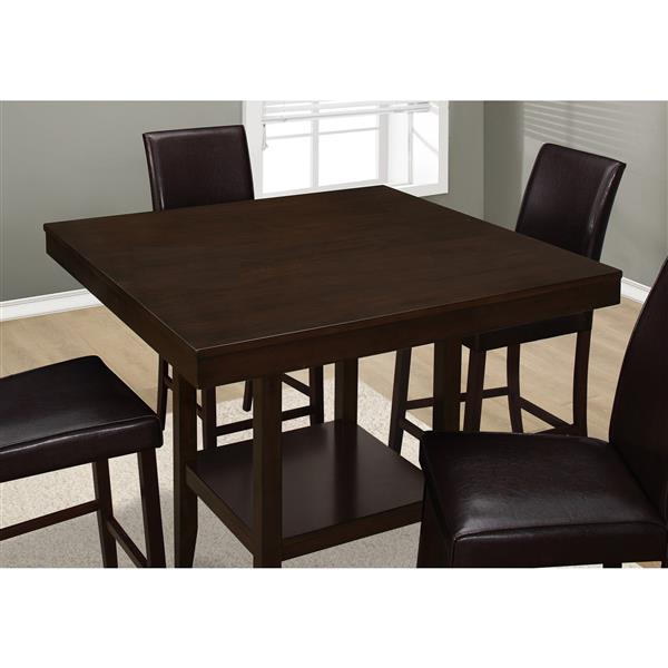Monarch 42-in x 36-in Wood Cappucino Dining Table