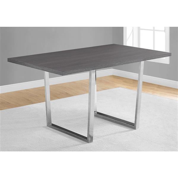 Monarch 59-in x 30.25-in Metal Grey Dining Table