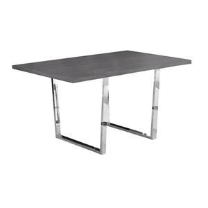 """Table de cuisine Monarch, 59"""" x 30.25"""", métal, gris"""