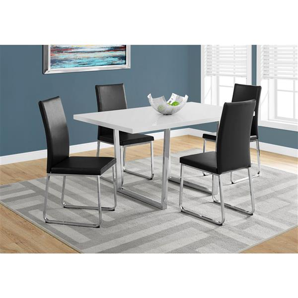 Monarch 59-in x 30.25-in Metal White Dining Table