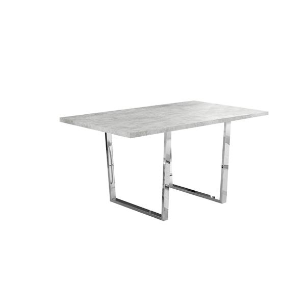 Monarch 59-in x 30.25-in Metal Light Grey Dining Table