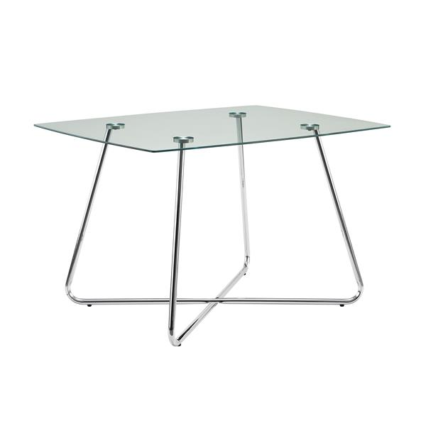 Monarch 40-in x 40-in x 31-in Metal Tempered Glass Dining Table