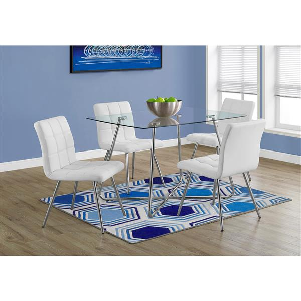 "Table de cuisine Monarch, 47,75"" x 37.75"" x 30"", verre"