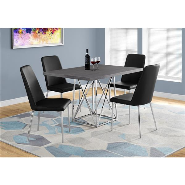 Monarch 48-in x 36-in x 31-in Metal Grey Dining Table