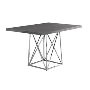 "Table de cuisine Monarch, 48"" x 36"" x 31"", métal, gris"