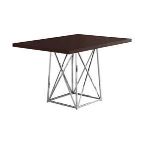 Monarch Specialties Monarch 48-in x 36-in x 31-in Metal Dark Brown Dining Table
