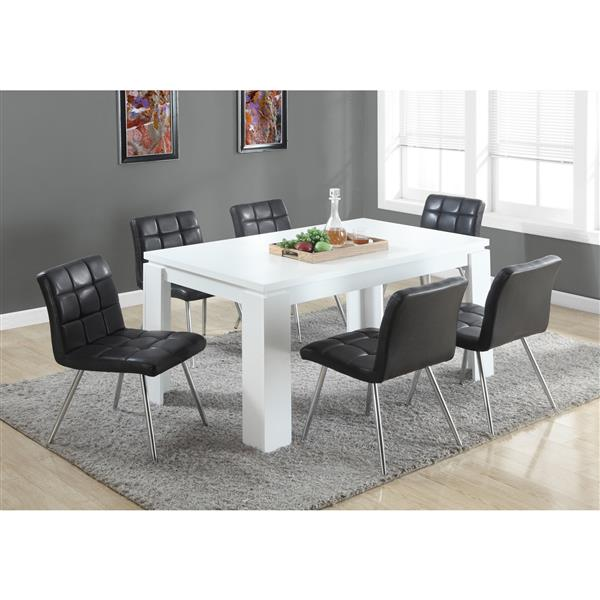 Monarch 59-in x 30.5-in Composite White Dining Table