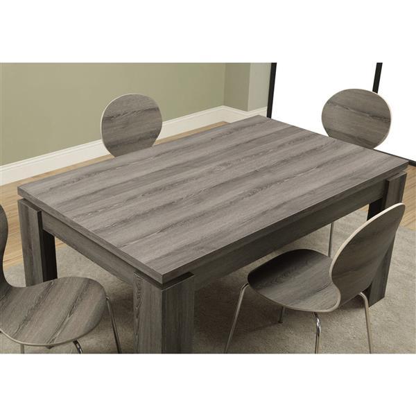 """Table de cuisine Monarch, 59"""" x 30,5"""", composite, taupe"""