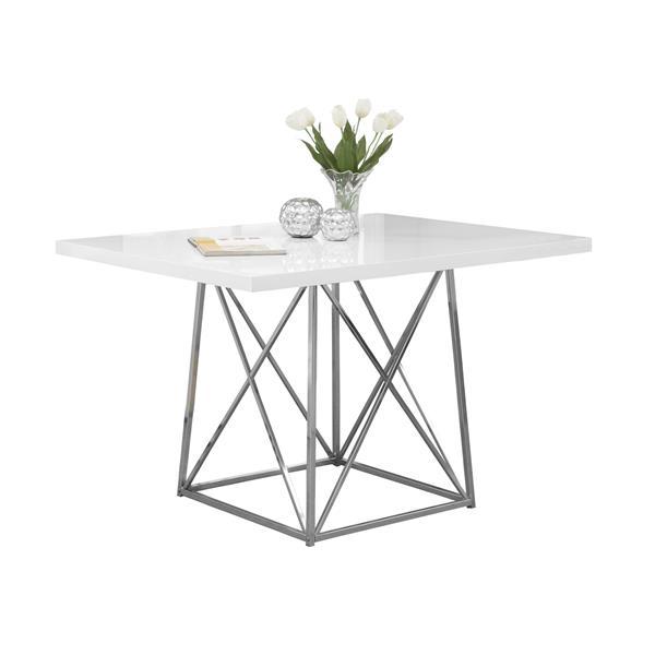 """Table de cuisine Monarch ,48"""" x 36"""" x 31"""", métal, blanc"""