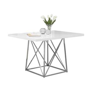 Monarch 48-in x 36-in x 31-in Metal White Dining Table