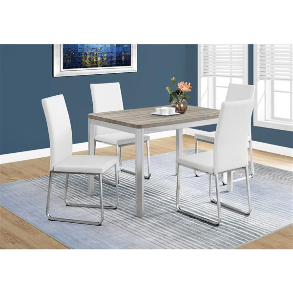 Monarch 31.5-in x 47.5-in Metal Dark Taupe Dining Table