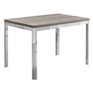 """Table de cuisine Monarch, 31,5"""" x 47,5"""", métal, taupe foncé"""