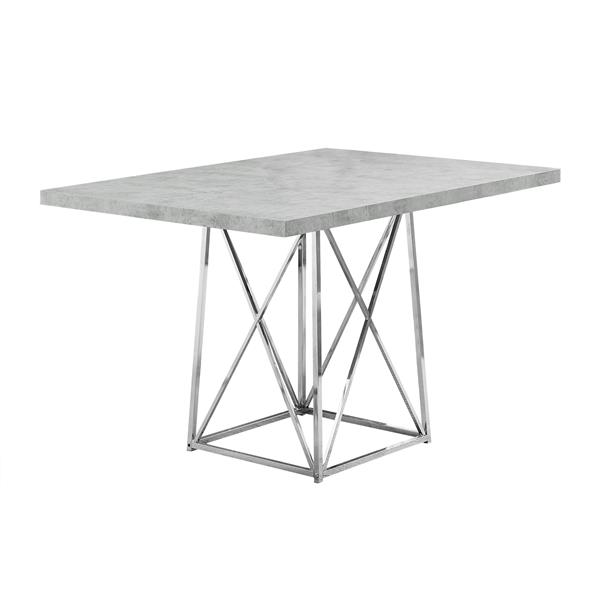 "Table de cuisine Monarch, 48"" x 36"" x 31"", métal, ciment"