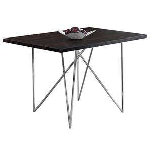 Monarch 47.50-in x 30-in Metal Cappuccino Dining Table