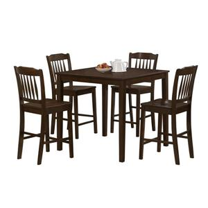 Ens.emble de salle à manger, bois, cappucino, 5 morceaux