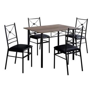 Monarch Dark Taupe 5 Piece Dining Set