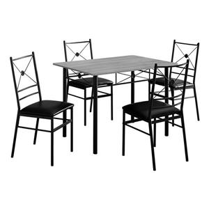 Monarch  Gray and Black 5 Piece Dining Set