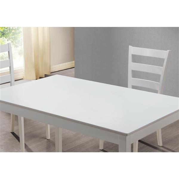 Monarch White Specialties Faux Leather 5 Piece Dining Set