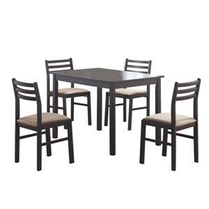 Monarch  Brown 3 Piece Microfibre Dining Set