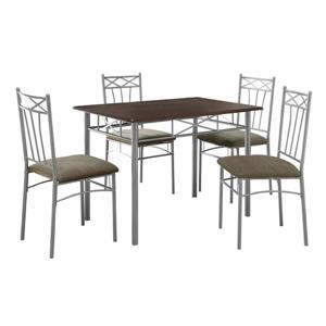 Monarch  Cappuccino Metal 5 Piece Dining Set