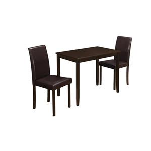 Monarch  Cappuccino Metal 3 Piece Dining Set
