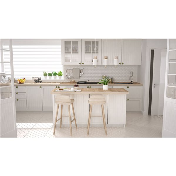 Natural by Lifestyle Brands Handpainted Green/Orange/Blue Ceramic Knobs (12 Pack)