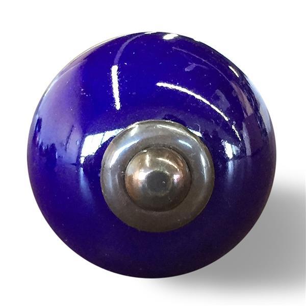 Poignées peintes à la main en céramique, 12 pqt, bleu
